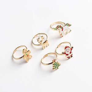 Holiday Christmas Rings Set One Size